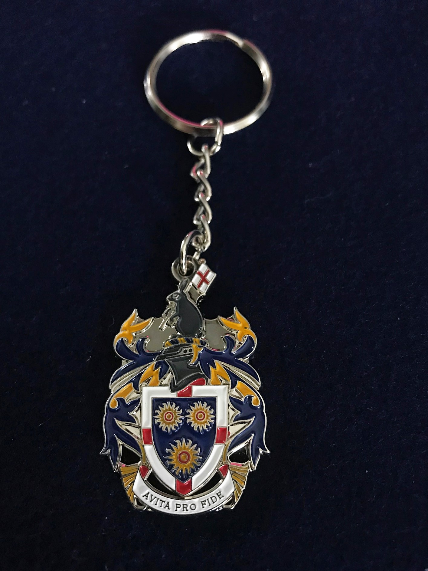 School Crest Key Ring